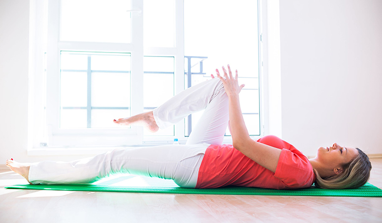 Floor hip-flexor improves hip mobility.