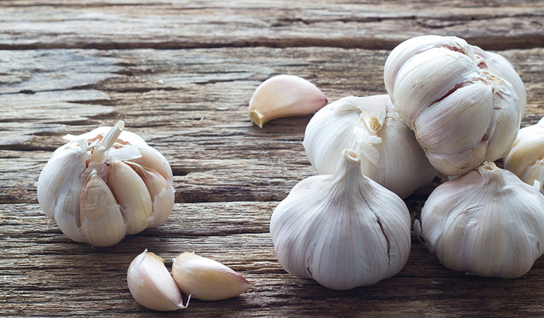 Garlic prevents parasitic growth.