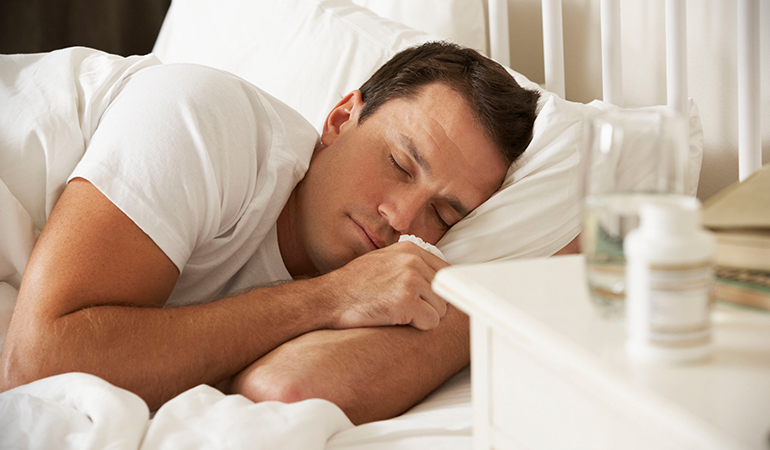 Sleep well and get enough rest to reduce the high temperature.