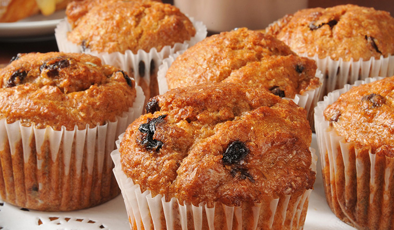 Muffins are not only tasty but also nutritious when you add quinoa and apricots