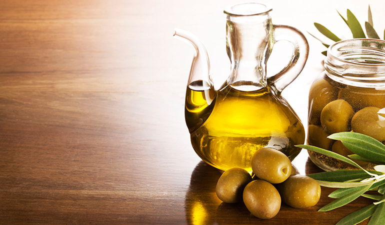 Use olive oil as a carrier oil if you have dry, flaky skin