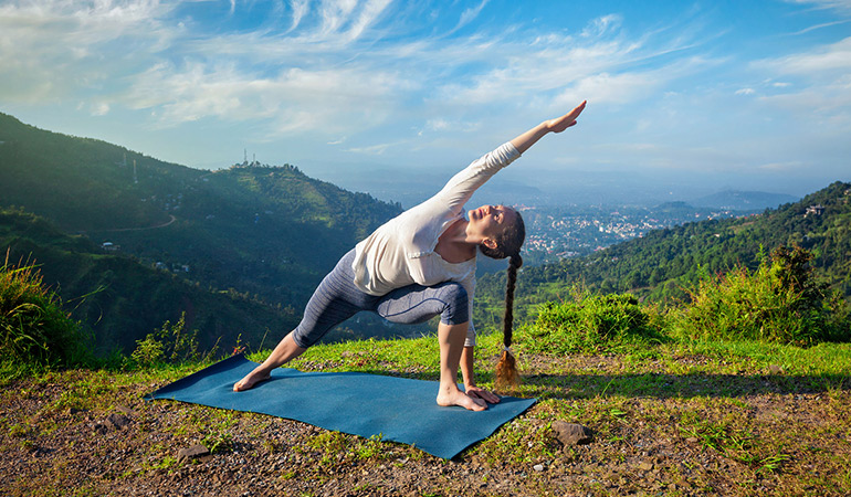 Enjoy outdoor yoga amidst nature while breathing in fresh air