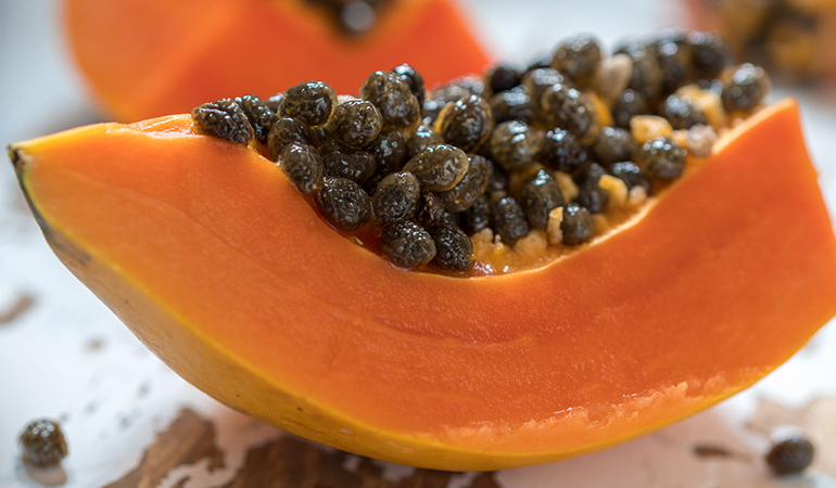 Papaya seeds kill intestinal parasites.