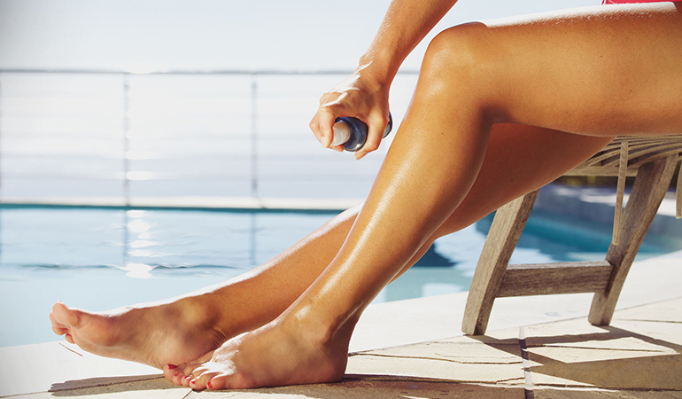 Be careful to always protect your eyes, nose, ears, and mouth when opting for a self-tan.