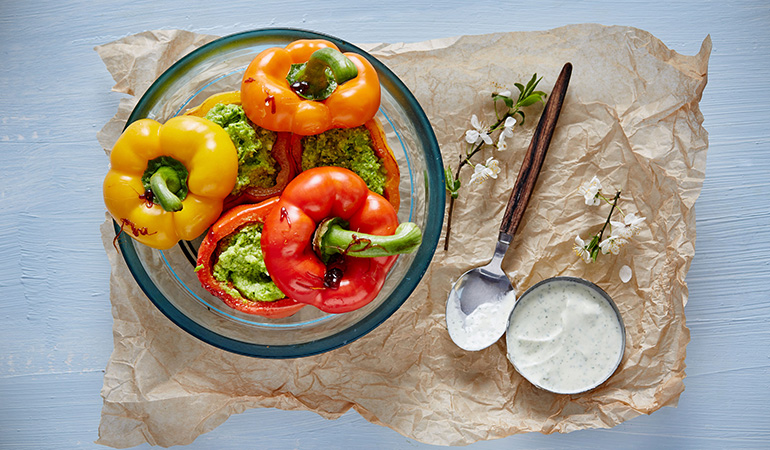Red bell pepper is great for health and low in sugars