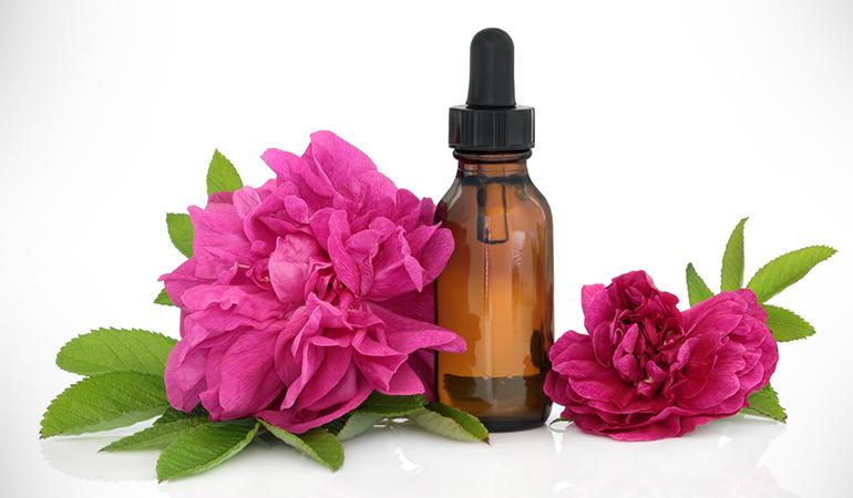 Rose water removes impurities, leaving skin radiant