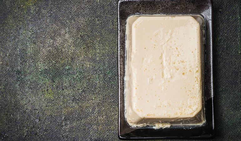 Silken tofu is a plant-based protein and a healthy alternaive to sour cream