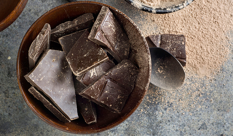 Avoid buying chocolate with a high sugar content