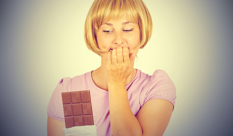 Sugar cravings often occur when your body is dehydrated