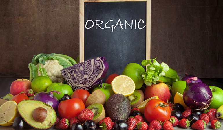 Buy organic fruits and vegetables that are free of pesticides and other harmful chemicals.