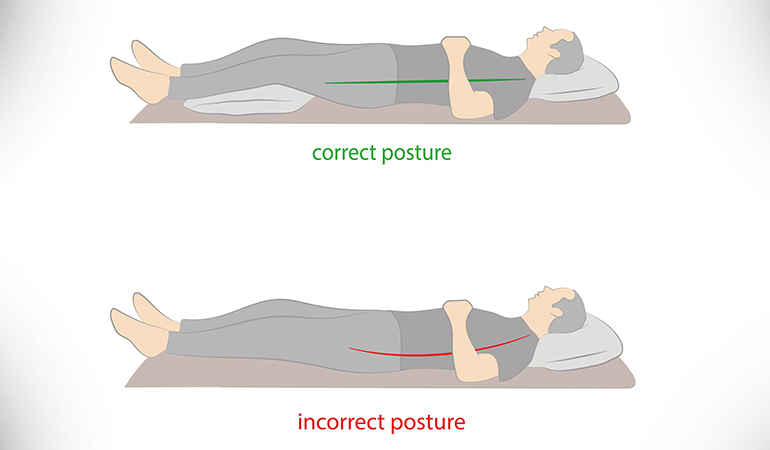 Place A Pillow Under Your Knees When Lying Down On Your Back
