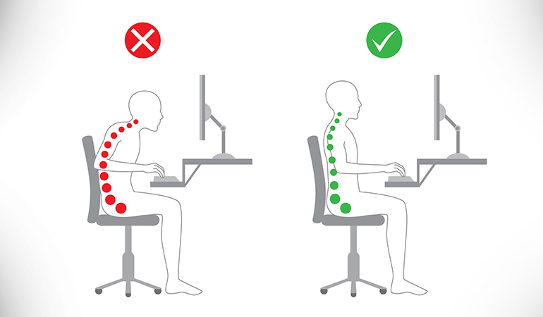 While Sitting, Adjust The Screen To Eye Level