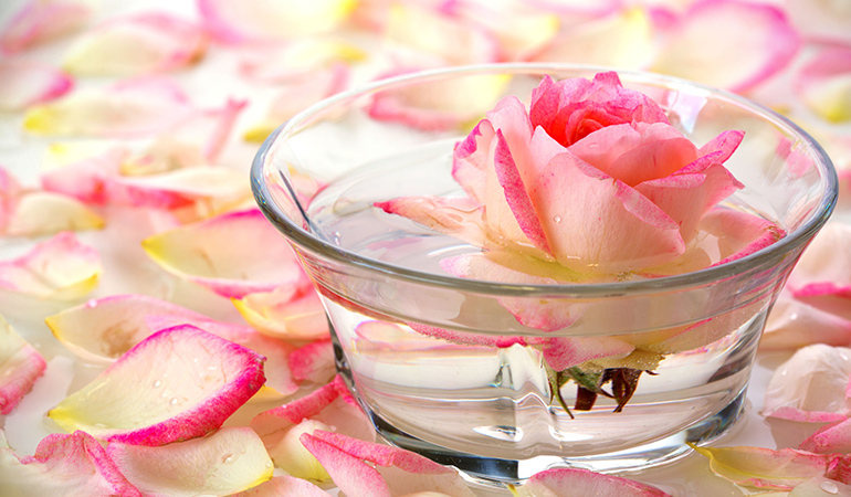 Tone the skin with rosewater or hazel