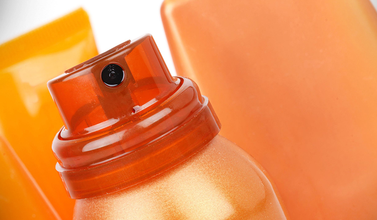 Sunless tanning products are available in the form of lotions, pills, and sprays, that give you a temporary tan.