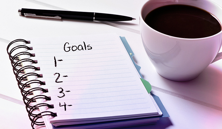 Have a goal in mind.