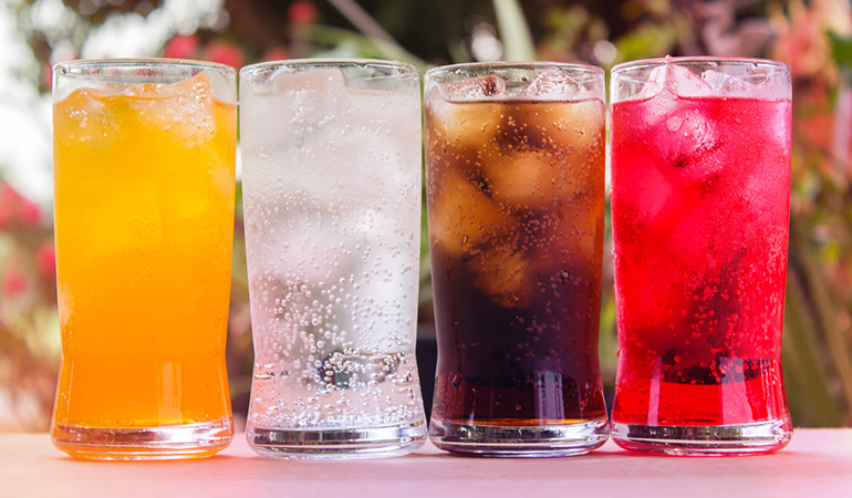 Flavored water is usually high in sugar content