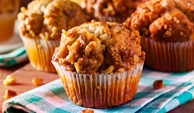 Walnuts can be eaten raw or as muffins and brownies.