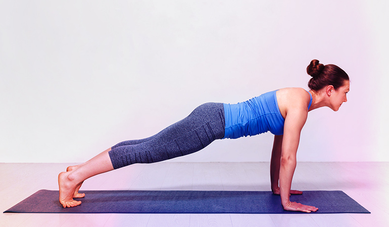 An extended full-body plank takes a lot of strength and stamina.