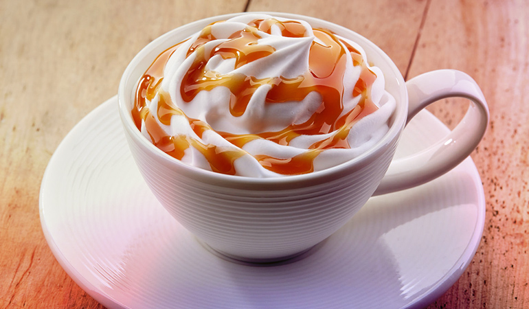 Most fancy coffee drinks are loaded with sugar, which is bad for health