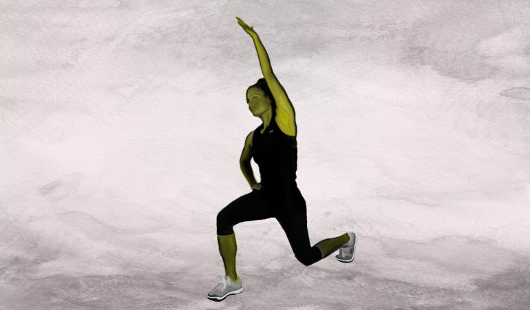 This exercise increases the range of motion of the hip, thoracic spine, and shoulder.