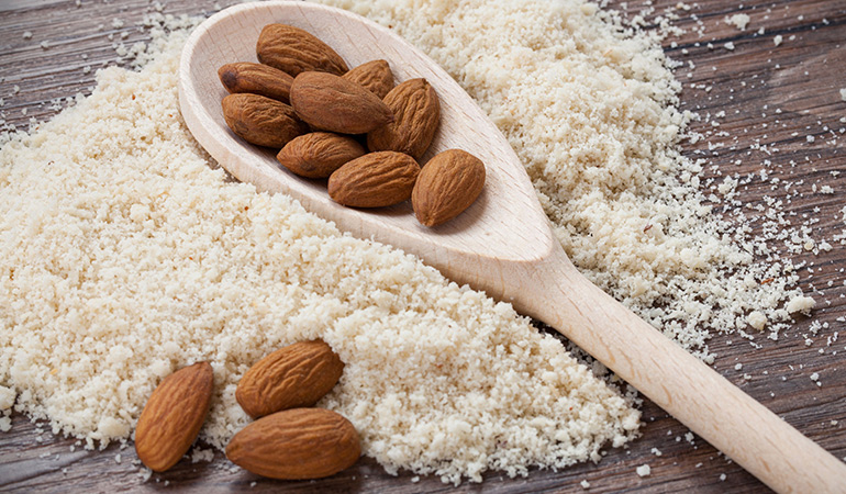 Swap all-purpose flour with almond flour for all your baking need