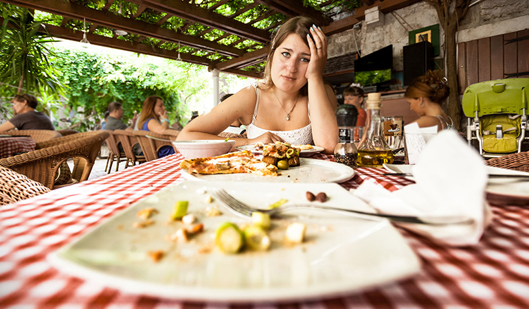 think about eating unhealthily for a meal and feeling guilty after it