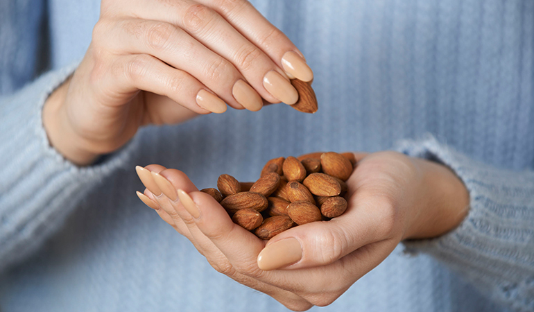 Store-bought almond milk contains a disappointing 2 percent almonds.