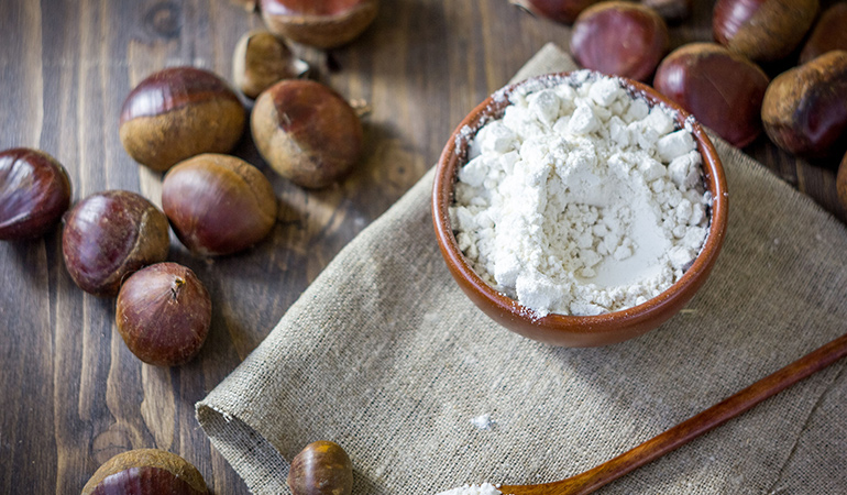 Chestnut flour can be used to bake cakes, cookies, and pancakes