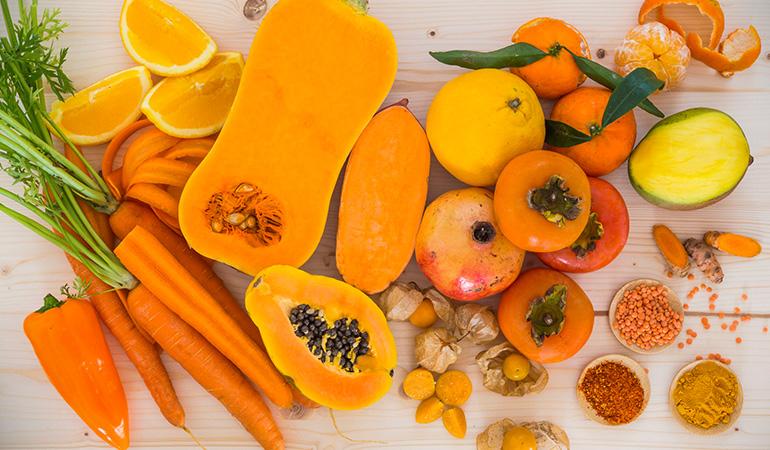 Beta-carotene rich foods can cause orange stools