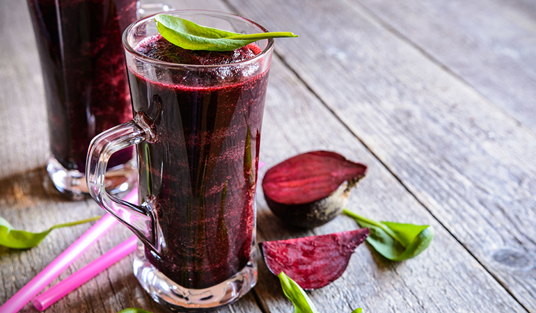 Drink pomegranate or beetroot juice instead of sticking to water.