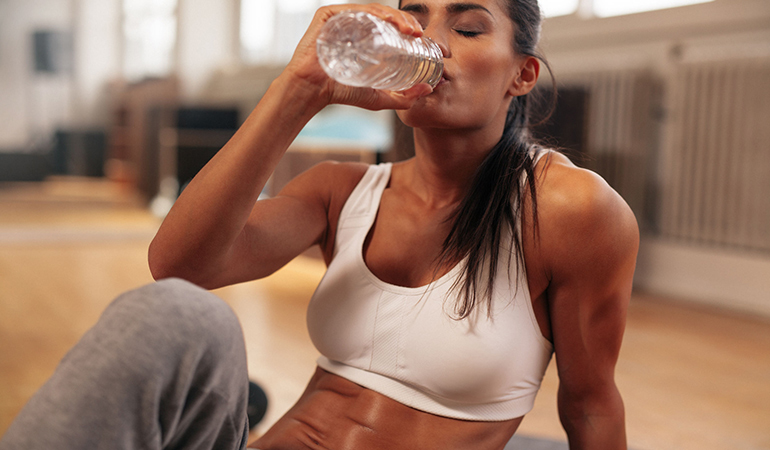 Drink between 16 and 24 ounces of fluid post workout.