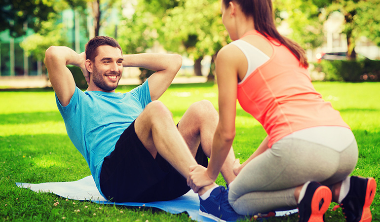 a workout buddy will motivate you to not skip a day