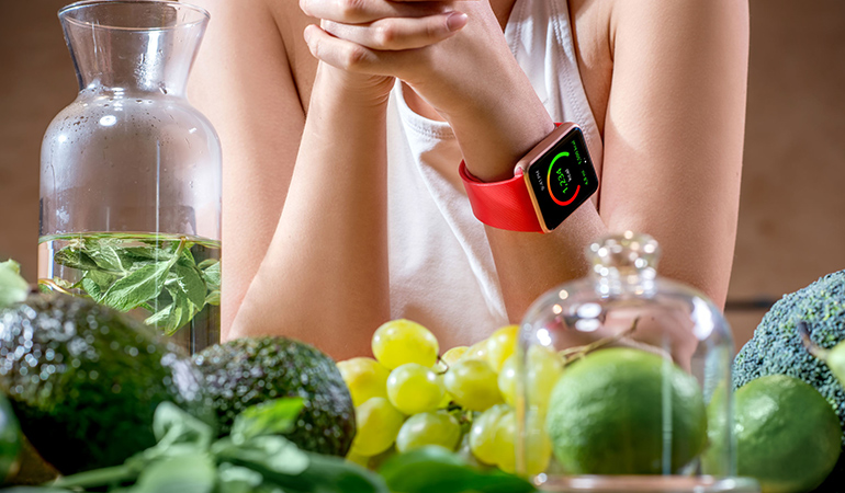 drink water and have a snack before exercising