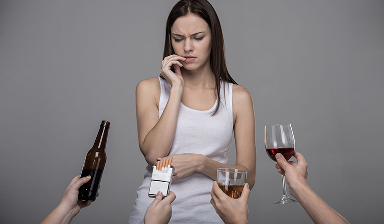Alcohol damages body tissues and affects DNA repair