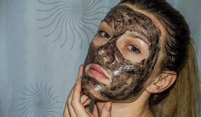 A face mask made of activated charcoal can treat many skin conditions and improve complexion