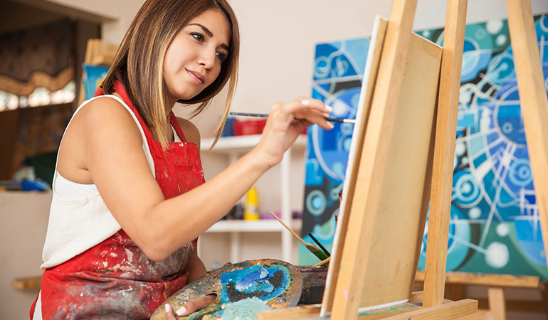 Art can reduce stress levels.