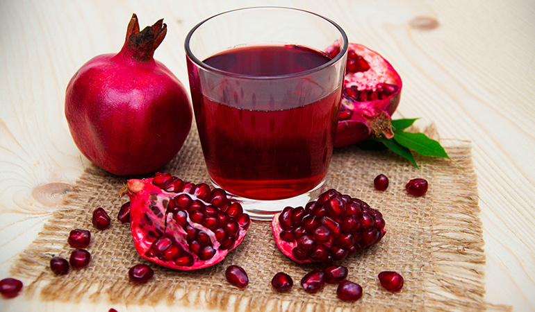 Fresh pomegranate juice is effective in killing and inhibiting the growth of many types of bacteria