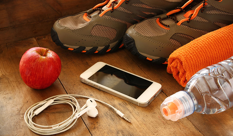 lay out everything you need for the workout the previous night
