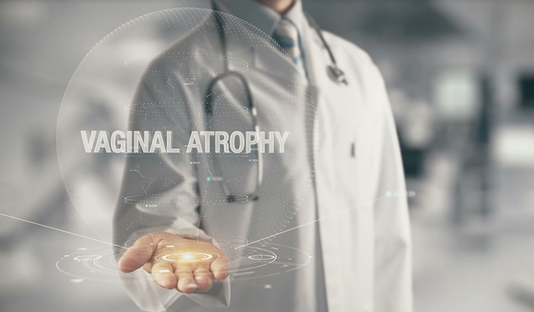 Vaginal atrophy causes painful spotting.