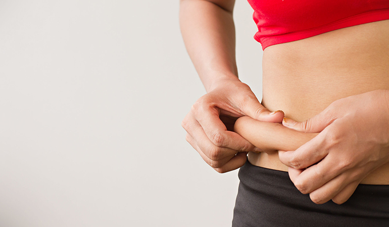 Low-fat diets promote weight gain.