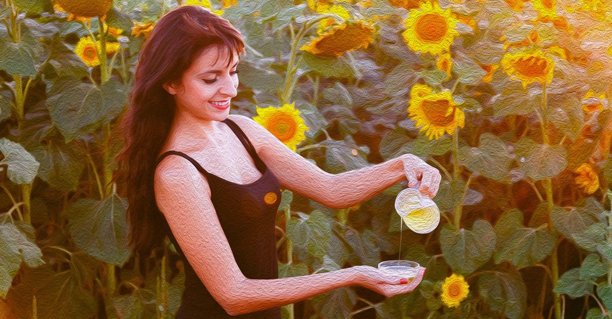 Sunflower oil for skin.