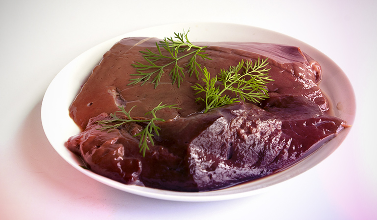 Beef liver is a good source of vitamin A.