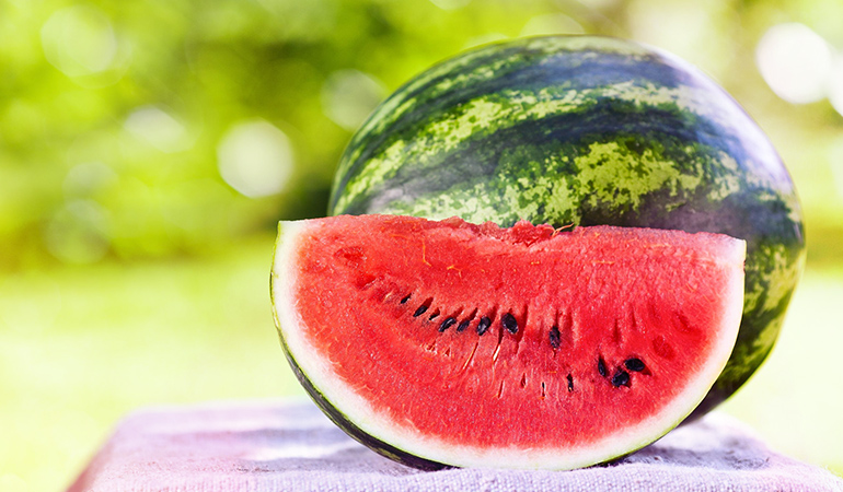 Watermelons contain 0.69 mg iron