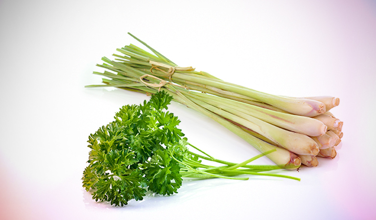 Parsley and lemongrass are rich in iron.