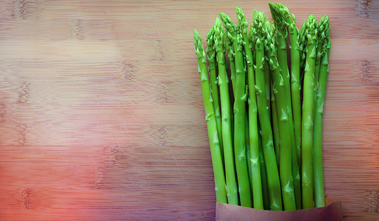 Asparagus is rich in iron