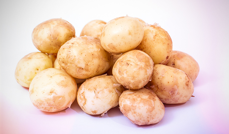 One large potato contains 3.23 mg of iron.