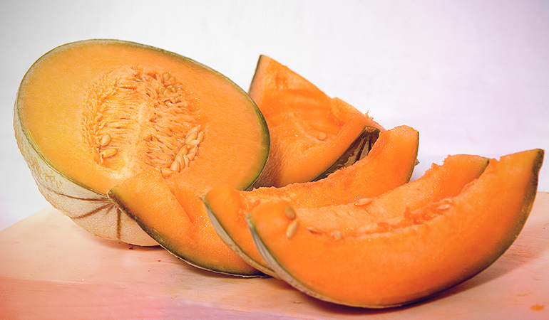Cantaloupe is a good source of vitamin A.