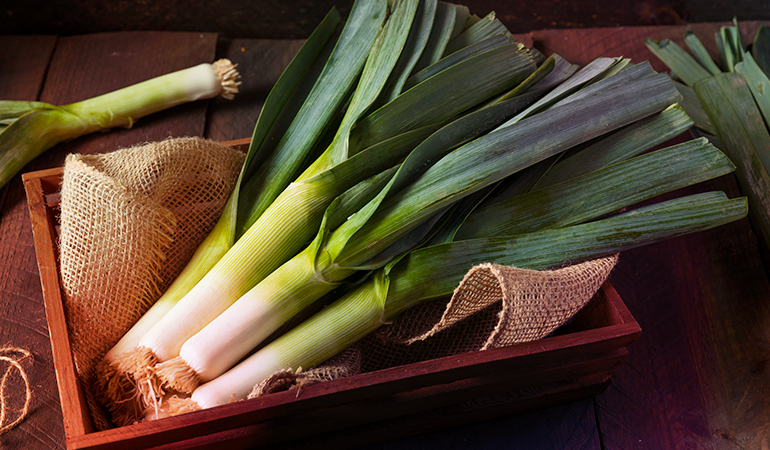 One leek will meet 7.6% of your iron DV
