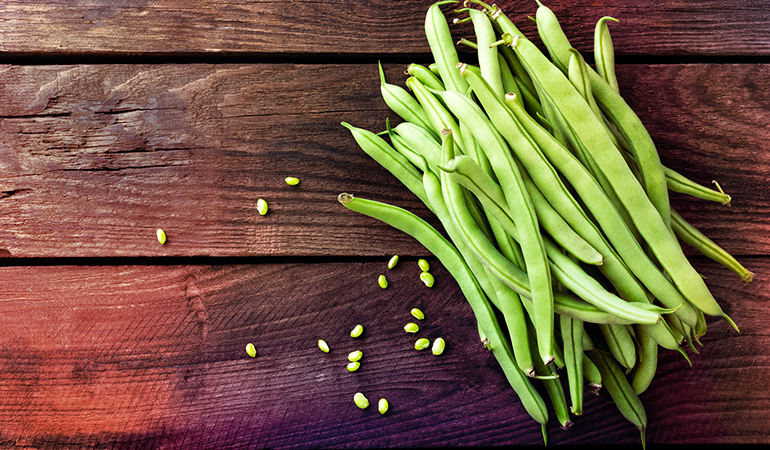 Green beans are rich in iron