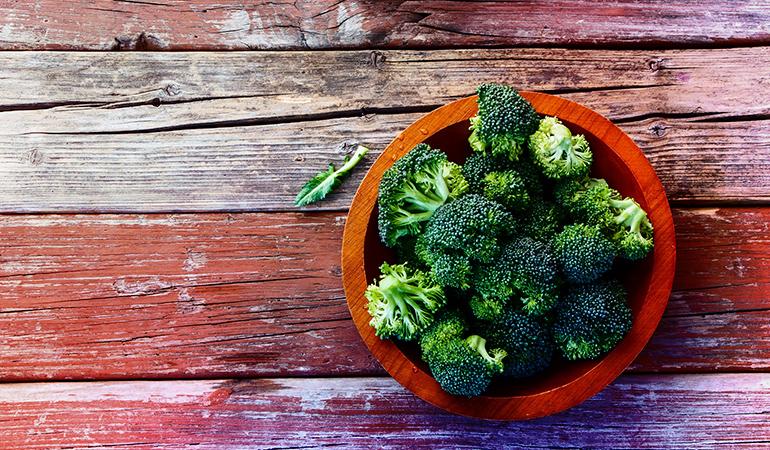 Half a cup of broccoli has 0.52 mg iron